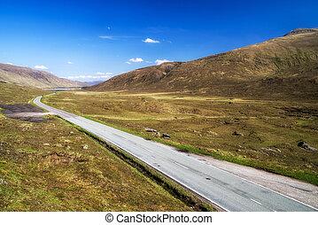 ländlicher weg, schottische