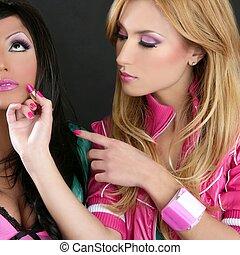 läppstift, mode, flickor, barbie, docka, smink, retro, 1980s