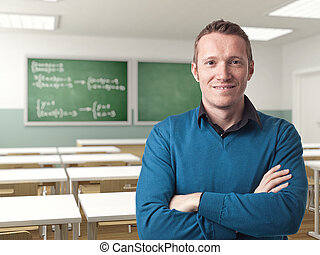 lärare, stående