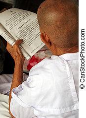 läsning, religiös, ord