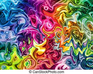 lätt, abstrakt, färgrik, bakgrund