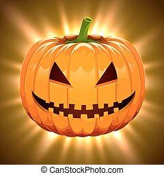 lätt, halloween, pumpa, magi, bakgrund.
