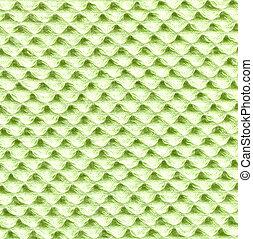 lätt, säckväv, grön, struktur