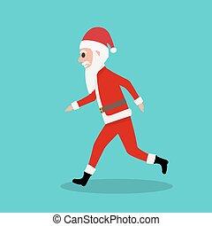 läufe, claus, kinder, weihnachten, santa, karikatur