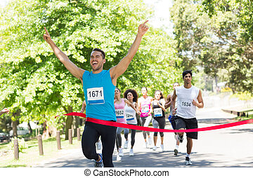 läufer, überfahrt, finshline