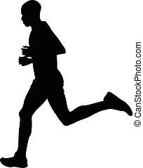 läufer, athlet, kenianer, marathon