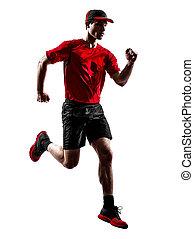 läufer, jogger, rennender , jogging, silhouette