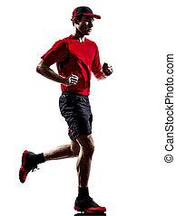 läufer, jogger, rennender , silhouette, jogging