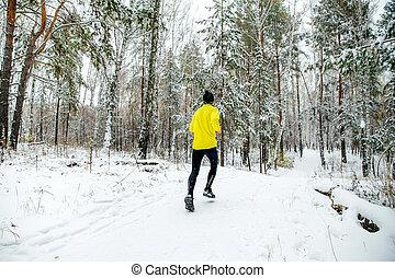 läufer, junger mann