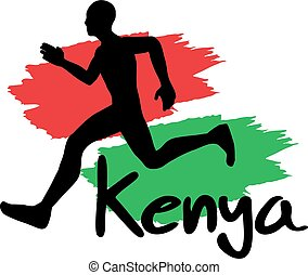 läufer, kenia, abbildung
