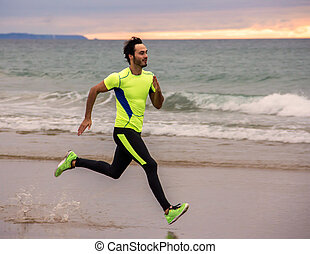 läufer, mann