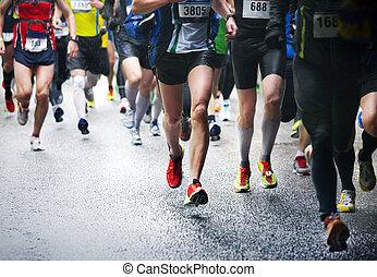 läufer, marathon