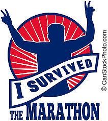 läufer, marathon, survived