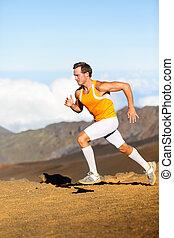 läufer, rennender , -, mann
