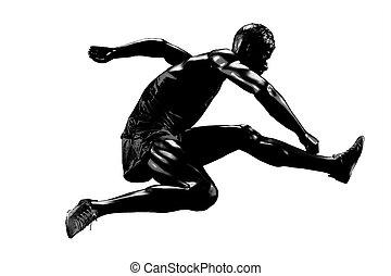 läufer, silhouette