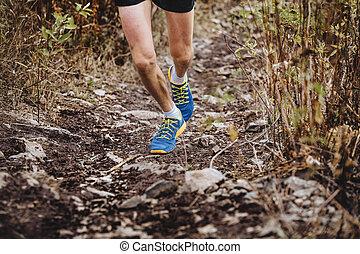 läufer, skyrunners, mann