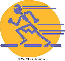 läufer, spur, olympisch, hochschule, racer