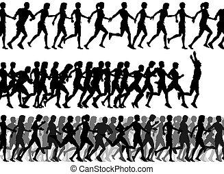 läufer, vordergrund