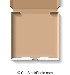 låda öppna, pizza