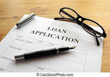 lån, ansøgning