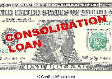 lån, begreb, konsolidering