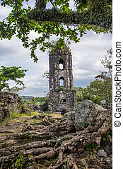 lång, scenisk, gammal kyrka, synhåll