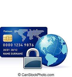 lås, internet bankvæsen