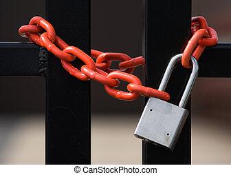 lås, og, kæde