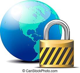 lås, -, secure, internet