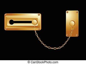 låsa, dörr