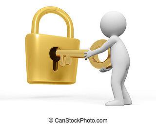 låsa, nyckel