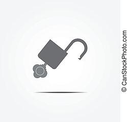 låsa upp, nyckel