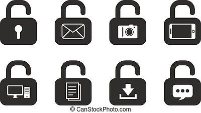 låser, iconerne