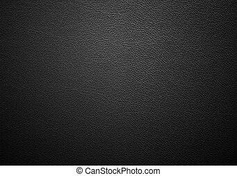 læder, sort, tekstur