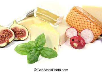 lækker, ost udvælgelse