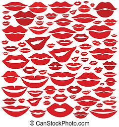 lèvre, fond
