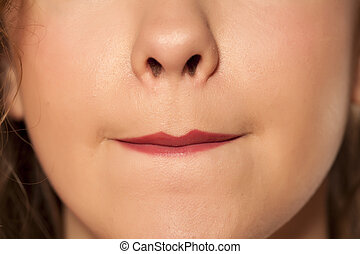 lèvres, allocated, rouge lèvres, elle, femmes