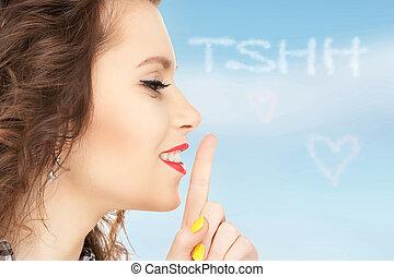 lèvres, doigt
