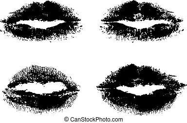 lèvres, noir