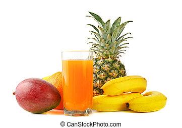 lé, gyümölcs, tropikus, friss