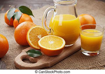 lé, narancs