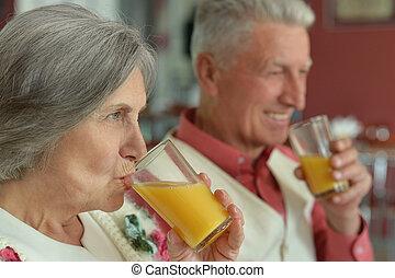 lé, párosít, ivás, öregedő