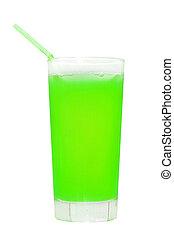 lé, pohár., elszigetelt, white., zöld