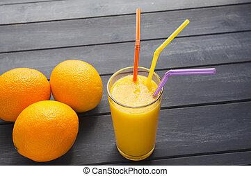lé, szerves, narancsfák