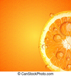 lédús, ábra, vektor, háttér, narancs, friss