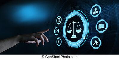 légal, avocat, business, main-d'œuvre, droit & loi, concept, technologie