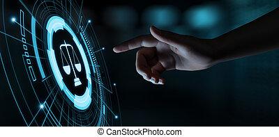 légal, avocat, business, main-d'œuvre, internet, droit & loi, concept, technologie