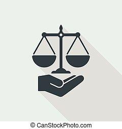 légal, concept, symbole, services