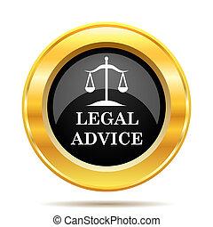 légal, conseil, icône