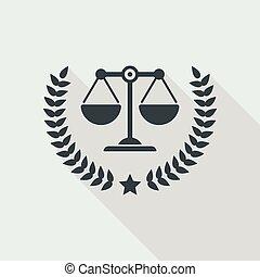 légal, icône, services, excellent